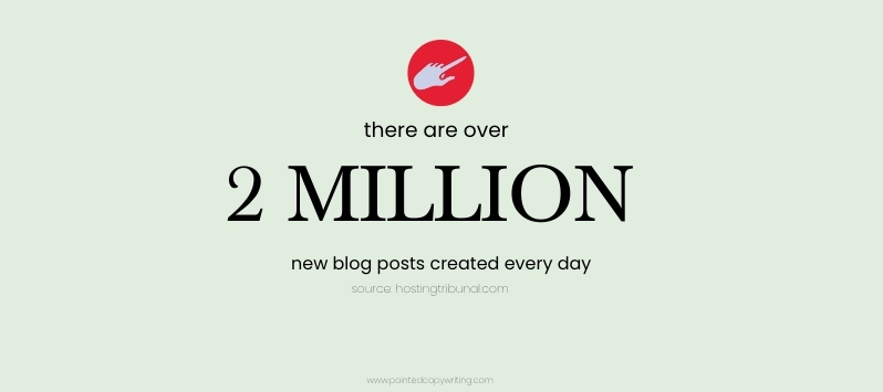 green text banner that reads there are over 2 million blog posts created every day